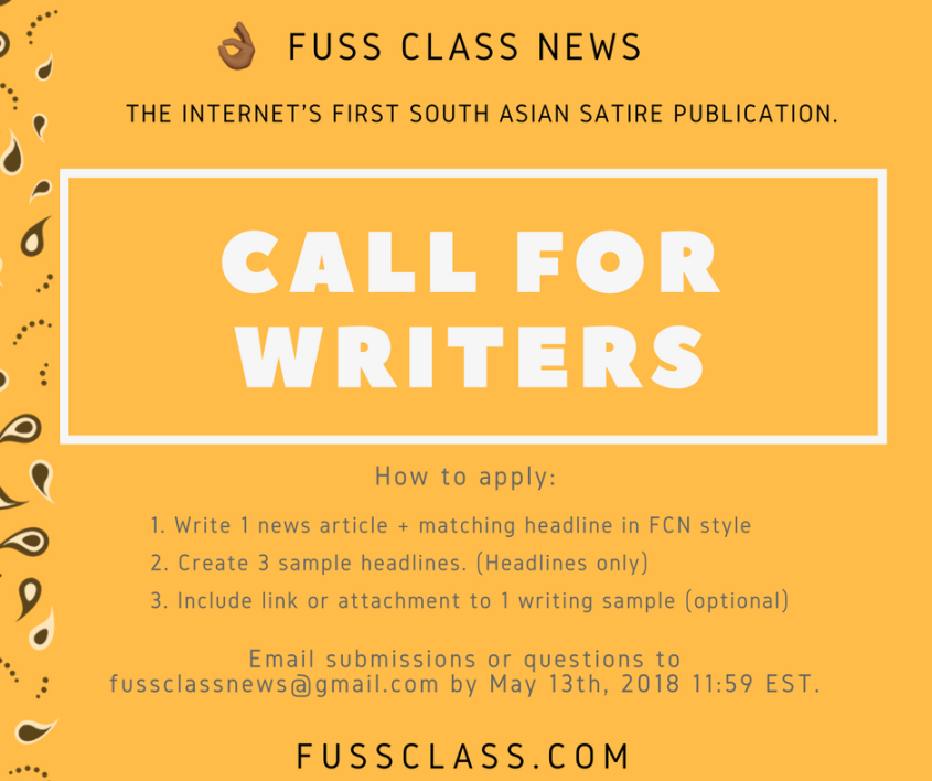 Call for writers FCN